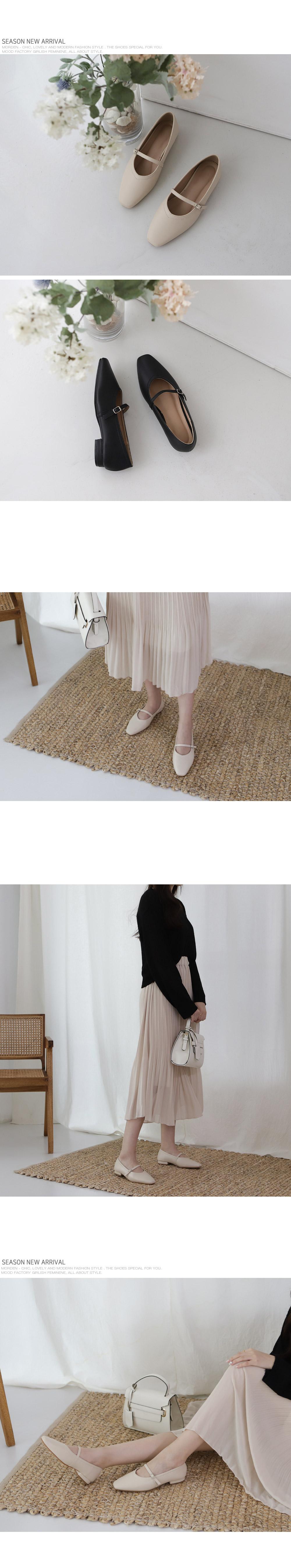 [Handmade] Buckle Strap Ballet Flats-Holiholic