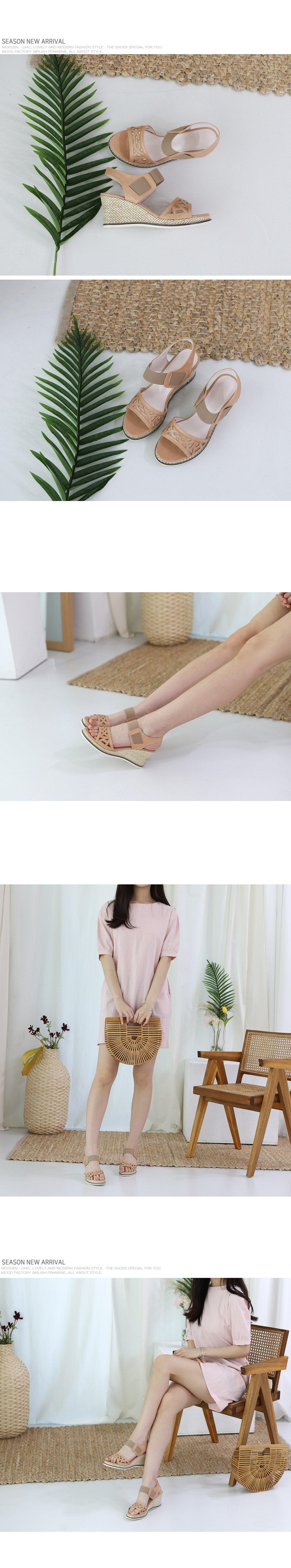 Ankle Banding Wedge Sandals-holiholic.com