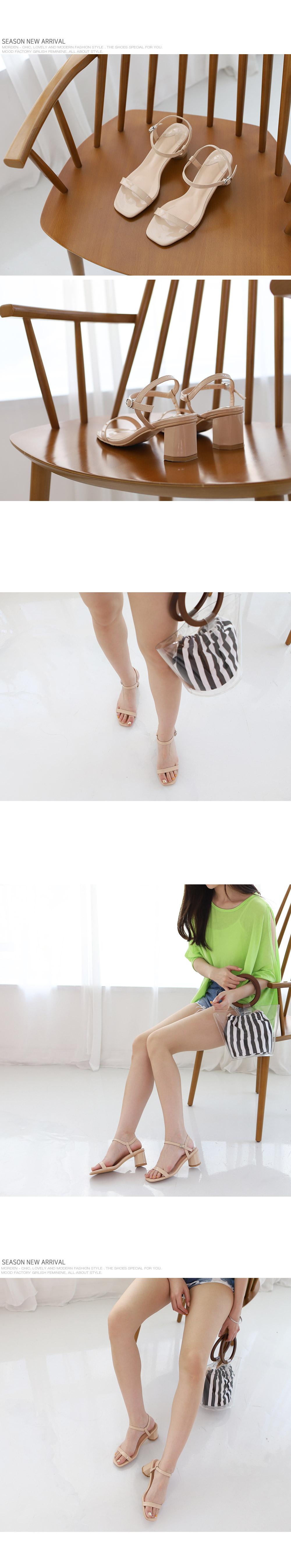 [Handmade] Enamel Buckle Strap Sandals-holiholic.com