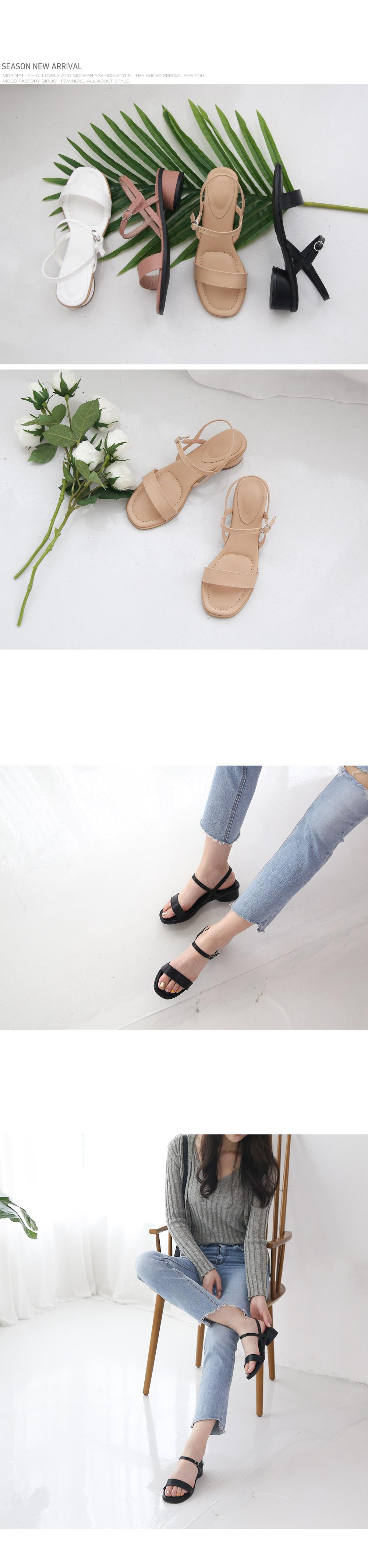 [Handmade] Basic Buckle Strap Sandals-holiholic.com